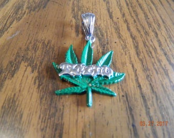 MIP- ICP Old School Twiztid Pot Leaf pendant with a 30 inch ball chain