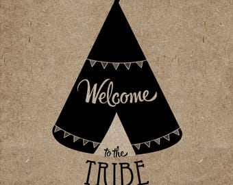 Welcome to the Tribe (New Baby card)