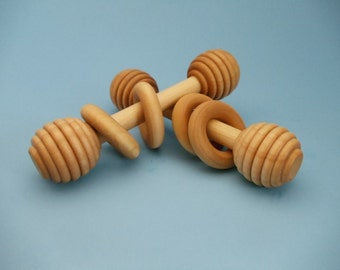 Rattle/Teether, baby rattle, teether, wooden rattle