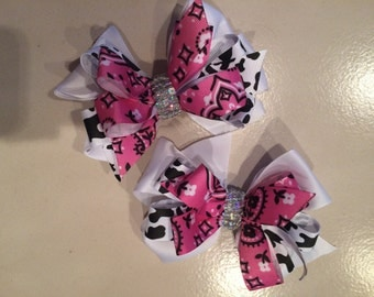 add on matching hair bows