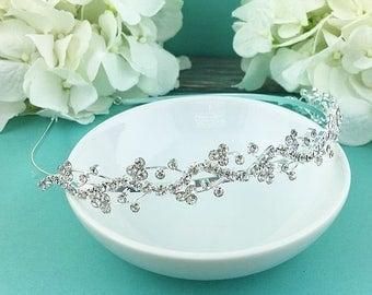 Rhinestone Crystal bridal headband headpiece, wedding headband, wedding headpiece, rhinestone tiara, rhinestone, crystal bridal 207999395