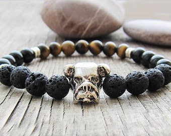 Memorial bracelet Mens bracelet Black wristband brother gift for dog lover bracelet animal bracelet Power bracelet Dog mom bracelet for men