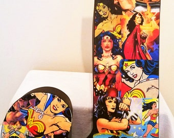 Wonder Woman Comic Book Letter Decor. DC Comics. Made to Order! Great for Weddings, Birthdays, Decorating Any Home, Engagements, Gifts, etc!