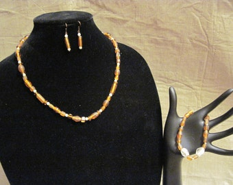 Root Beer Float Set (Necklace, Bracelet, Earrings)