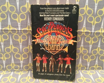 Sgt Pepper's Lonely Hearts Club Band by Henry Edwards paperback book vintage movie tie in