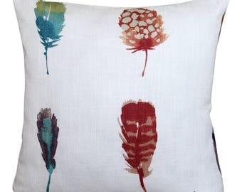 Harlequin Limosa Amazilia Papaya Feather Cushion Cover