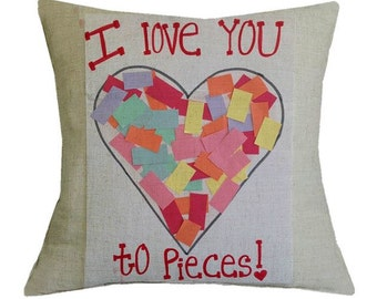 I Love You to Pieces - Pillow Cover