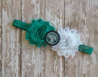 Philadelphia Eagles chevron elastic infant, toddler, or adult size headband