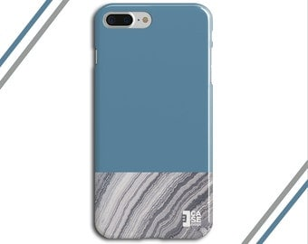 Niagara Blue x Grey Marble Two Toned Phone Case, iPhone 7, iPhone 7 Plus, Tough iPhone Case, Galaxy s8, Samsung Galaxy Case, CASE ESCAPE