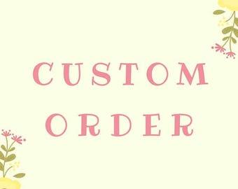 Reserved custom earrings for Aria