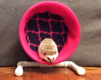 Wheel Cover, Pink and Navy Diamond Pattern, with Waterproof back, for Hedgehogs, Rats, and other Small Animals