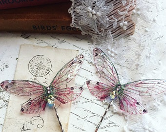 NEW Pretty pink Faerie wing hair adornment