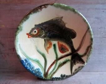Puigdemont Ceramics, Vintage Puigdemont pottery, Large Wall Plaque, Ceràmica Puigdemont, Spanish Pottery, Art Pottery, Studio Pottery