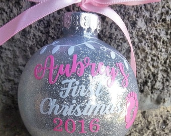 Baby's First Christmas Ornament, Baby's 1st Christmas Ornament
