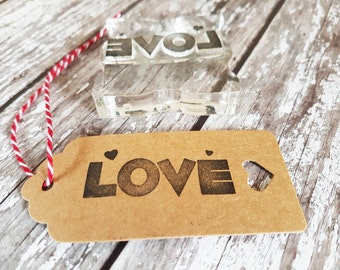 Love stamp, rubber stamp, love rubber stamp