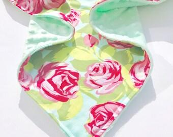 New Flower Minky Baby Blanket