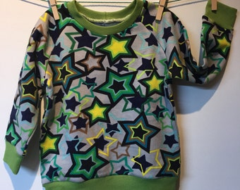 Star sweatshirt by jogging material, mt 84 and 78