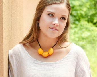 Bab Tagua Adjustable Choker Necklace  Eco Friendly Necklace Colombia Sustainable Necklace
