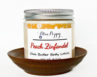 Peach Zinfandel Body Lotion, Shea Body Butter