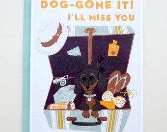 Farewell from a Dachshund  Greeting Card