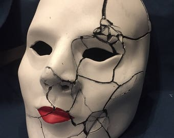 Shattered Doll Mask - Shadows Beneath