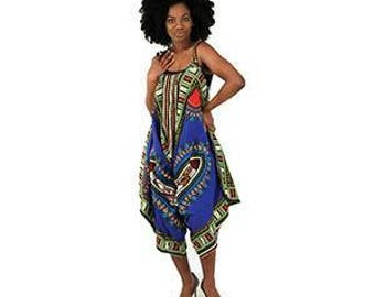 African Traditional Print Jumpsuit