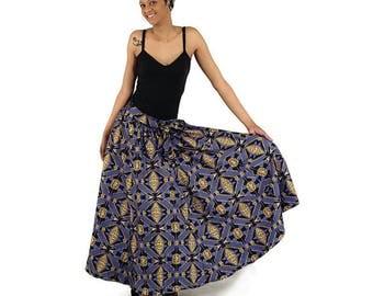 African Print Maxt Skirt