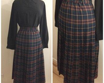 1960s skirt, 70s, 60s, large, plus size, retro, skirt