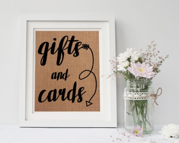 Gifts and Cards Sign / Wedding Gifts Sign / Cards and Gifts Sign ...