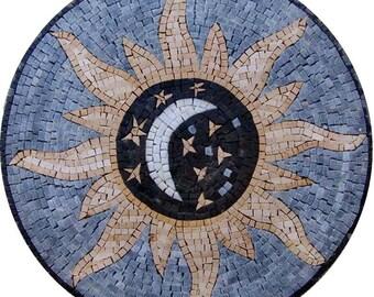 Sun Moon Mosaic Medallion - Akmar