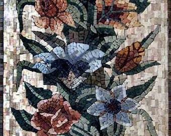 Carnation Floral Decor. Roman Mosaic