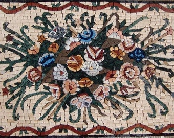 Beautiful Floral Marble Mosaic Hand Made