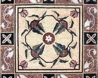 Floral Geometric Pattern Mosaic