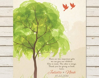 PARENT WEDDING GIFT, Parent Thank You, In Laws Gift, Parents Gift, Wedding Tree, Gift for Parents, Mother of Groom, Grooms Parents