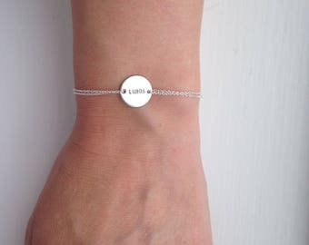 Initial bracelet, sterling silver bracelet, large disc, monogram bracelet, name bracelet, friendship bracelet - mothers jewellery - everyday
