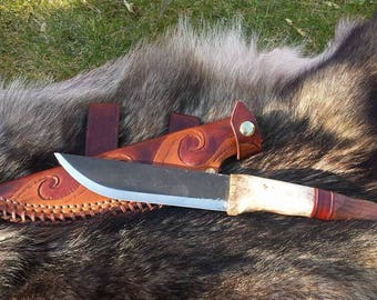 6' LM Hunter Bushcraft Knife, Camping , Survival Handmade