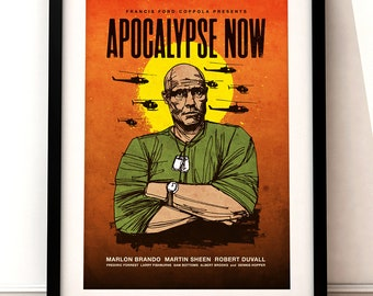 Apocalypse Now poster art, Apocalypse Now print, film print, Apocalypse Now movie art, typographic print, Apocalypse Now, film poster