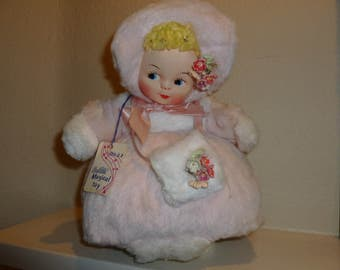 "Vintage Bantam Musical Toy Doll That Plays "" Let Me Call You Sweetheart "" From The 1950's"