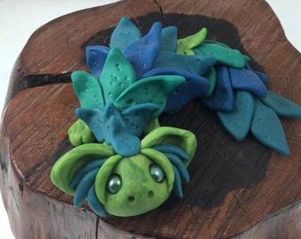 """OOAK polymer clay """"dew"""" dragon"""