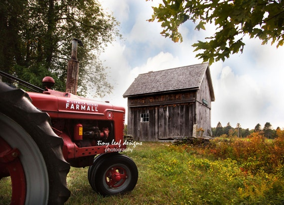Farmall Tractor at Waters Farm Photography 5x7 8x10 11x14