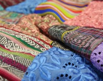 Square Patchwork Quilt  GHL1/Patchwork/Quilt/Handmade Quilt/Beach Blanket/Blanket/Custom Quilt/Custom Blanket/Patchwork Blanket