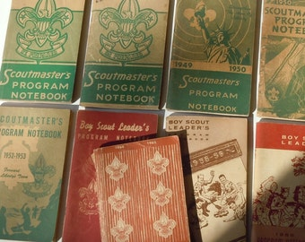 Scoutmaster's Programs / 1947-1965 / Some writing / Uniform Requirements on back / 9 Total