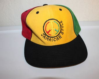 Vintage 90's Jamaican Style Velcro Hat by Jamaican Style