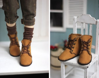 Minifee leather boots (shoes, slim msd, bjd boots) 5.5 cm