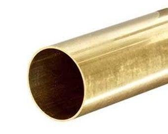 """C272 Yellow Brass Round Tube 1-3/4"""" (1.75) OD x .035"""" W x 12"""""""