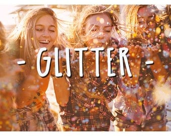 60 Blowing Glitter Photoshop Overlays: Confetti  Photo layer, Bokeh blow magic Pixie dust  effect, Marketing board wedding and mini Sessions