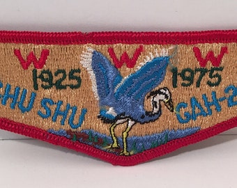 Vintage Shu Shu Gah-24 WWW 1925-1975 Council Shoulder Embroidered Patch