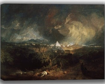 Joseph Mallord William Turner: The Fifth Plague of Egypt. Fine Art Canvas. (04054)