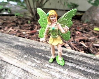 Mini Green Fairy Figurine, Miniature Garden Fairy, Green Fairy Figurine, Fairy  Garden Fairy