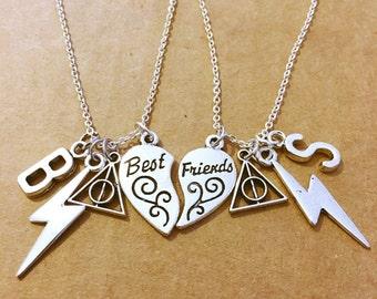 Two Harry Potter best friend necklaces